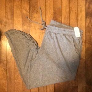 Grey joggers/sweats. Gillian & O'Malley Sleepwear.